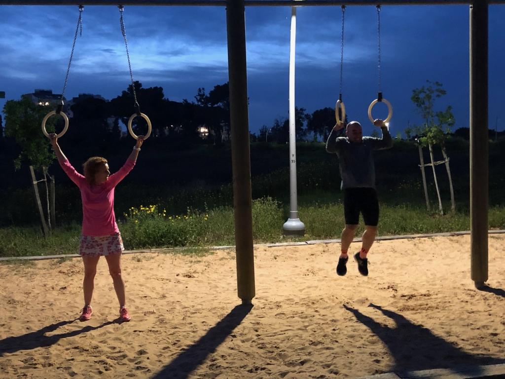 """אימון ריצה בערב - פארק כ""""ס הירוקה"""