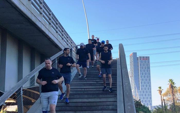 אימון ריצה חברת הי - טק